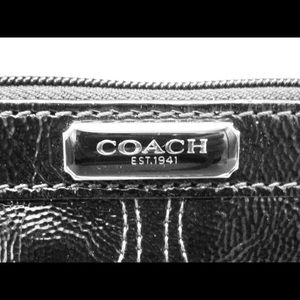 Coach Black Patent Wristlet